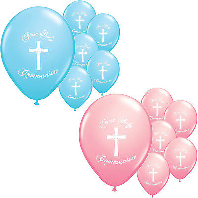 Boy Girl First Holy Communion Church Party Decoration Latex Printed Balloons • 3.29£
