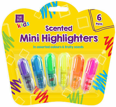 £1.99 • Buy 6 X Mini Fruit Scented Coloured Highlighters Pens Stationery School Children Kid