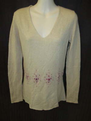 $25.16 • Buy Matilde 100% Cashmere Beige Camel Pink Longer Length Sweater 44 May Fit S