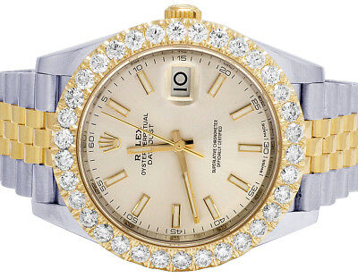 $ CDN22667.77 • Buy Mens Rolex Datejust II 41MM 126333 18K/ Steel Two Tone Diamond Watch 6.8 Ct
