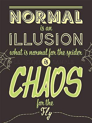 $ CDN24.48 • Buy Quote Word Art Typography Motivation Addams Normal Chaos Canvas Art Print