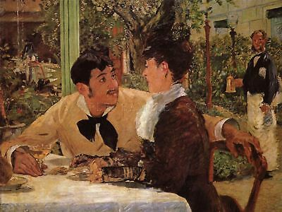 £16.50 • Buy Manet Peˆre Lathuille Old Master Art Painting Reproduction Canvas Art Print