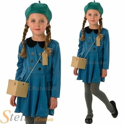 Girls 1940s Wartime Costume Book Week Child Fancy Dress Party Kids Outfit • 9.99£