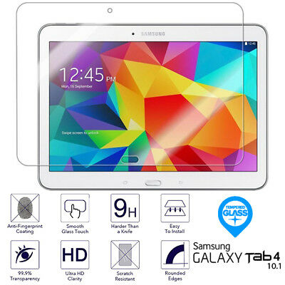 For Samsung Galaxy Tab 4 10.1 Tempered Glass Screen Protector SM T530 T531 T535 • 3.89£