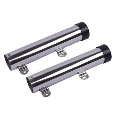 AU39.99 • Buy Stainless Steel Fishing Rod Holders Clamp On Rails Mounting Boat Transom Mounted