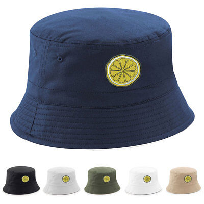 RENI LEMON BUCKET HAT Embroidered The Rose Bands Tribute Anniversary Stone NEW • 9.99£