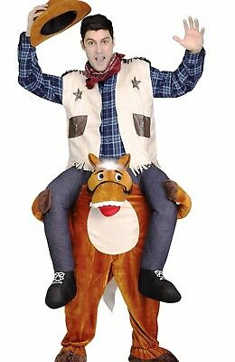 $54.36 • Buy Carry Me Horse And Cowboy Costume Adult Mens Funny Ride On Shoulders Humorous