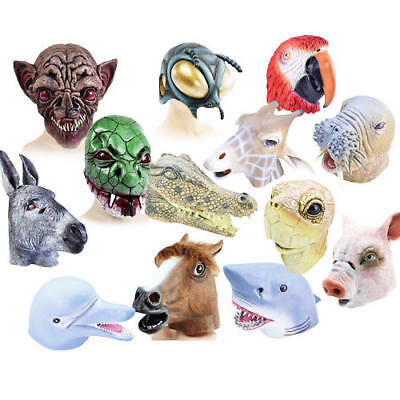 £12.99 • Buy Animal Masks Adult Fancy Dress Zoo Book Characters Mens Ladies Costume Accessory