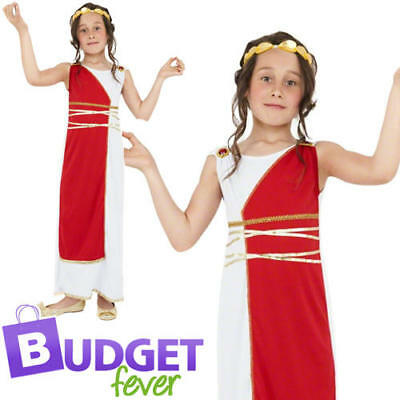 £6.99 • Buy Grecian Girls Fancy Dress Historical Roman Greek Toga Kids Childs Costume Outfit