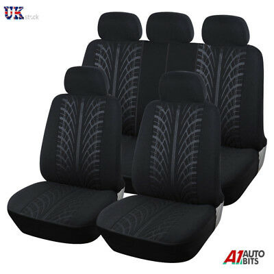 £17.99 • Buy Black Car Seat Covers Protectors Universal Washable Dog Pet Full Set Front Rear