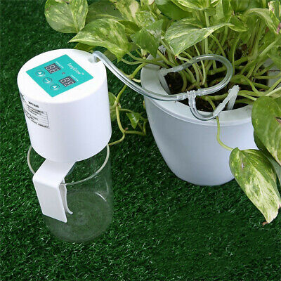 Automatic Drip Irrigation Plant Kit Self Watering Can Timer System Indoor Garden • 29.95£
