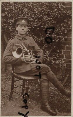 Soldier Loyals Loyal North Lancashire Regiment Seated With Euphonium ? • 9.99£