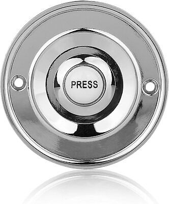£13.07 • Buy Round Chrome Door Bell Push Byron 2207P1BC Wired Circular White Press Button