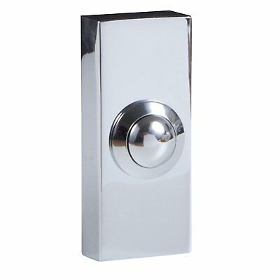 £12.07 • Buy Wired Door Bell Surface Mounted Push Button Doorbell - Chrome Finish Byron