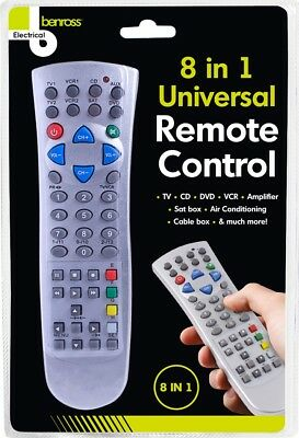 8 In 1 Universal Remote Control Samsung Toshiba Smart TV LED LCD HDTV Plasma • 3.89£