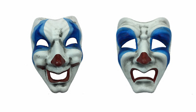 £24.02 • Buy Masquerade Comedy Tragedy Clown Costume Mask Drama Sad Happy Smile Frown Face