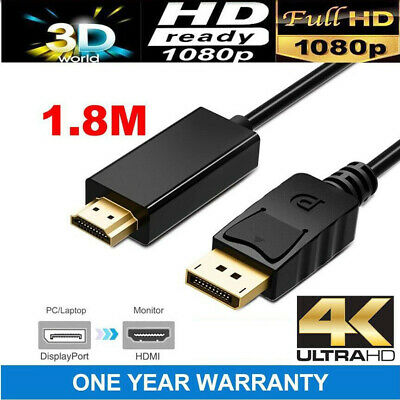 AU5.49 • Buy Displayport Display Port DP Male To VGA HDMI Female Converter Adapter Cable