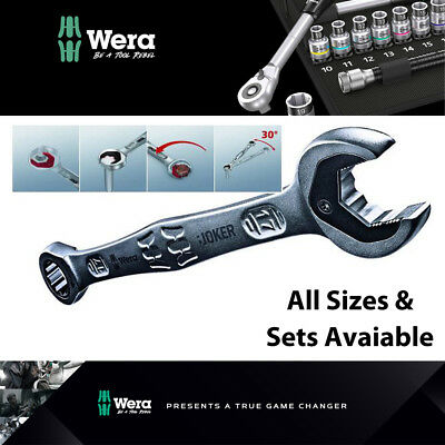 £199.99 • Buy WERA Joker Metric & Imperial Combination Ratchet Open End Ring Spanner All Sizes