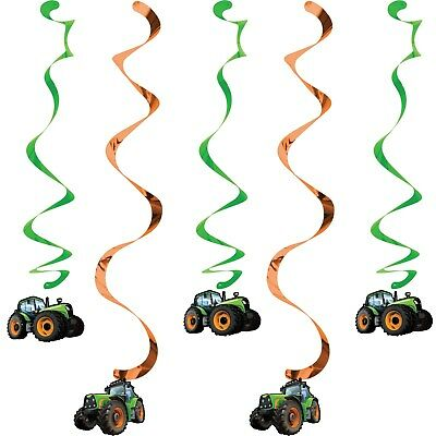 AU7.99 • Buy Tractor Farm Birthday Party Dangling Cutouts Hanging Decorations