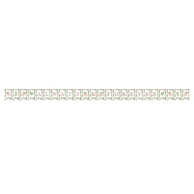 WEDDING AND BRIDAL Love And Leaves PENNANT BANNER ~ Party Supplies Decoration • 3.25£