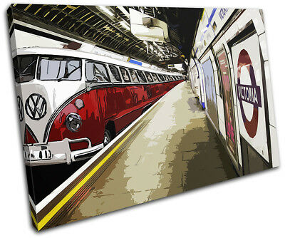 £19.99 • Buy Camper Van Underground  Transportation SINGLE CANVAS WALL ART Picture Print