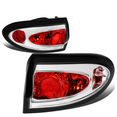 $68.88 • Buy Fit 03-05 Chevy Cavalier Pair Chrome Housing Tail Light Rear Brake/Parking Lamps