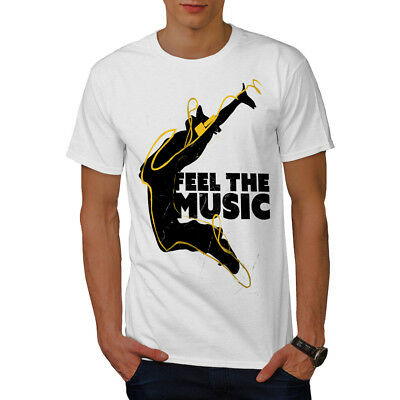 Wellcoda House Dj Song Dance Mens T-shirt, Headphone Graphic Design Printed Tee • 13.99£