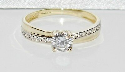 9ct Yellow Gold 0.50ct Solitaire Engagement Ring Size M - UK Hallmarked • 71.10£