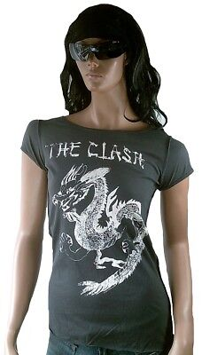 £38.64 • Buy AMPLIFIED THE CLASH Dragon Tattoo Strass T-Shirt G.S