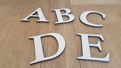 £5.99 • Buy 6 Mm Thick MDF Wooden Letters  Numbers Choice Of Heights 5 Cm To Large 60 Cm