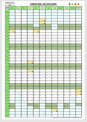 £4 • Buy 2022 A2 Year Wall Calendar - A2 Vertical Planner - Personalised