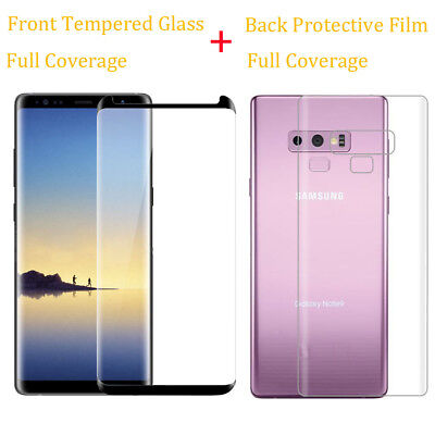 $ CDN6.29 • Buy 9H Tempered Glass Screen Protector Back PET Film For Samsung Galaxy Note 8 9/S9