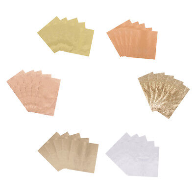 5 Sheets Gold Leaf Gilding Foil Paper For DIY Resin Jewelry Nail Art Craft • 2.53£