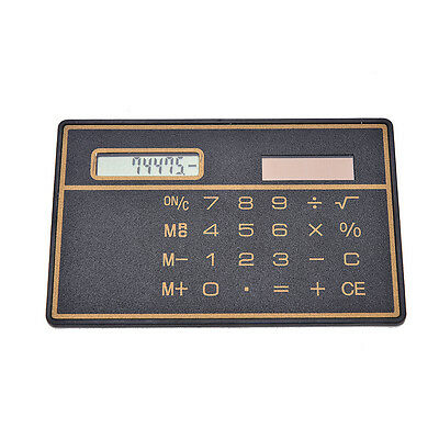 Mini Credit Card Solar Power Pocket Calculator Novelty Small Travel Compact DSUK • 1.85£