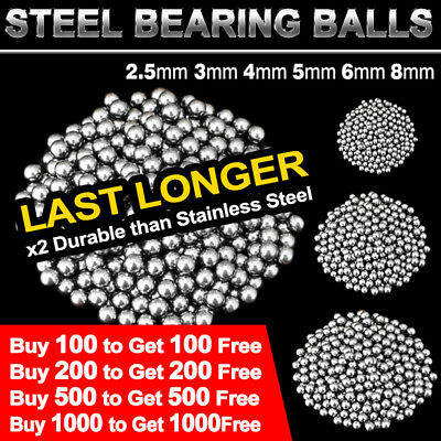 AU11.95 • Buy Replacement Parts 2.5-8mm Bike Bicycle Carbon Steel Loose Bearing Ball