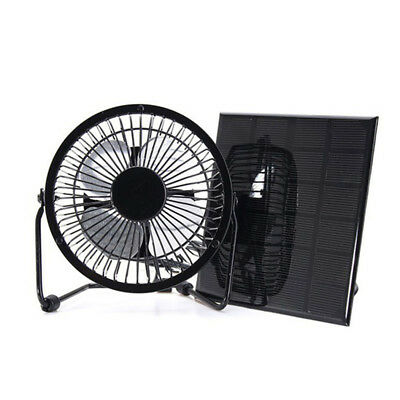 AU32.99 • Buy 3W 6V 4 Solar Panel Powered Fan For Camping Caravan Yacht Greenhouse Dog House