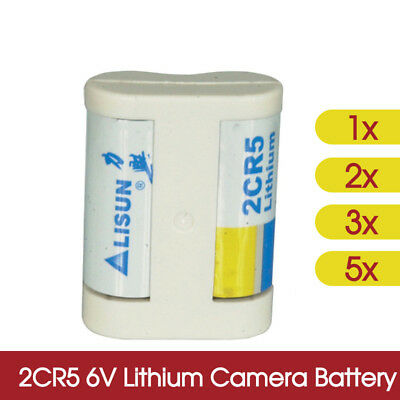 AU13.98 • Buy 1x 2x 3x 5x 2CR5 6V Lithium Camera Battery Commonly Nipple