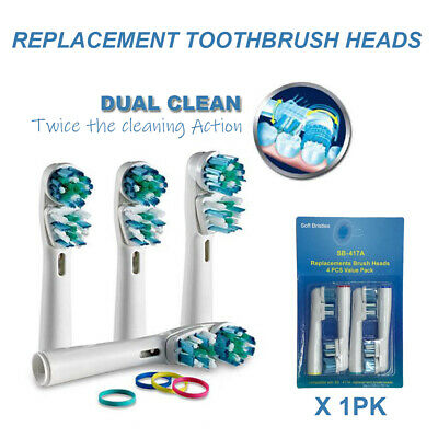AU6.13 • Buy Dual Clean Oral B Compatible Electric Toothbrush Replacement Brush Heads X4pcs