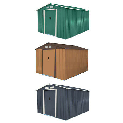 Charles Bentley 8ft X 10ft Metal Garden Shed Outdoor Storage  • 309.99£