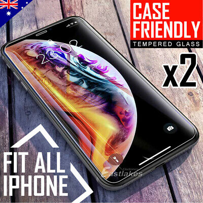 AU3.59 • Buy 2x Tempered Glass Screen Protector For Apple IPhone 11 Pro Max XS Max XR X