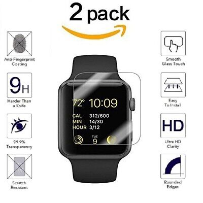 $ CDN1.79 • Buy For Apple Watch Series 4/3/2/1 HD 9H Tempered Glass Screen Protector Film 2PK