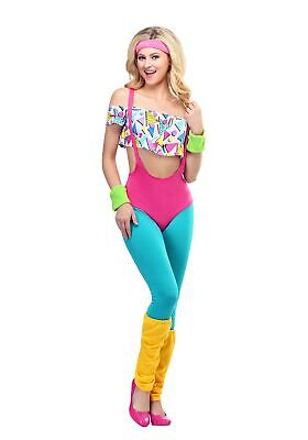 AU64.87 • Buy Women's Work It Out 80's Costume