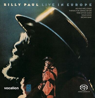Billy Paul - Live In Europe  [SACD Hybrid Multi-channel] *LIMITED EDITION* • 13.99£