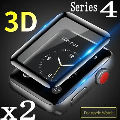$ CDN4.05 • Buy For Apple Watch Series 4 Full Edge 9H Tempered Glass Screen Protector 40mm/44mm