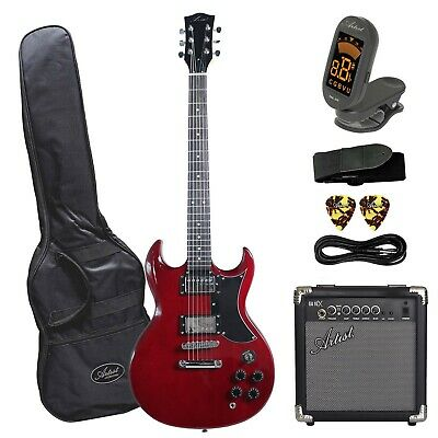 AU289 • Buy Artist AG1 Red Electric Guitar With Accessories Plus Amp - New