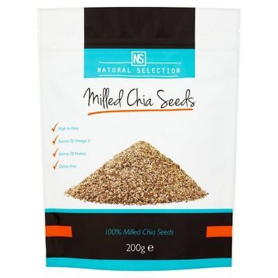 2x Natural Selection Milled Chia Seeds 200g • 16.29AU
