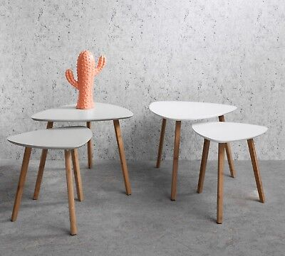 £29.99 • Buy Nest Of Tables Nesting Occasional Side Table Console Scandinavian