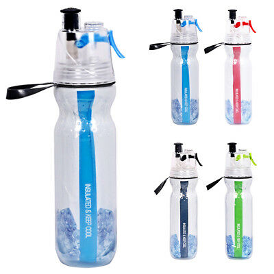 AU13.59 • Buy 500ML Cycling Running Water Drink Bottle Mist Spray Portable Outdoor Sports Cup
