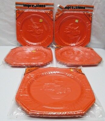 $ CDN65.99 • Buy Lot Of 50 Vintage Halloween Orange Embossed Witch Plastic Plates Party Rigid NOS