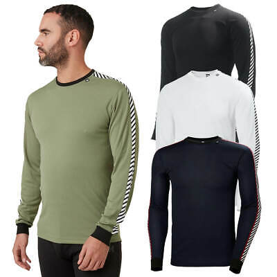 Helly Hansen Mens 2020 HH Dry Stripe Crew Lightweight Base Layer Long Sleeve Top • 27.99£